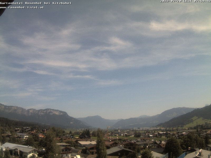 Webcam Livecam Kitzbuehel, Tirol - Blick vom Rosenhof